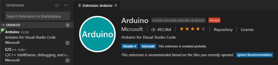 Visual Studio Code Arduino extension